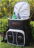 Picnic Pack Trolley Cooler with Bluetooth Speakers