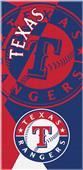 Northwest MLB Rangers Puzzle Beach Towel