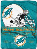 Northwest NFL Dolphins Prestige Raschel Throw