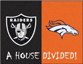 Fan Mats NFL Raiders/Broncos House Divided Mat