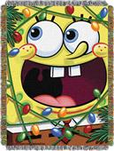 Northwest SpongeBob Fa La La Woven Tapestry Throw