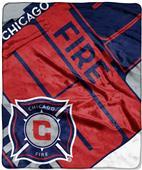MLS Chicago Fire Scramble Raschel Throw