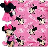 NFL 49ers Disney Minnie Hugger & Fleece Throw