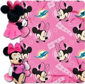 NFL Dolphins Disney Minnie Hugger & Fleece Throw