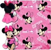 NFL Seahawks Disney Minnie Hugger & Fleece Throw