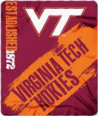 Northwest Virginia Tech Painted Fleece Throw