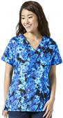 WonderWink Womens Sporty V-Neck Scrub Top