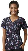 WonderWink Womens Mock Wrap Knit Scrub Top