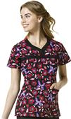 WonderFlex Womens Patience Curved Neck Scrub Top