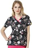 WonderWink Womens Charlie Mock Wrap Scrub Top