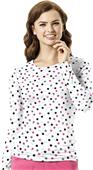 WonderWink Womens Silky All-Over Print Tee