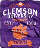 Northwest Clemson Label Raschel Throw
