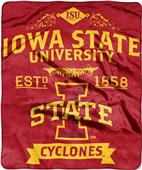 Northwest Iowa State Label Raschel Throw