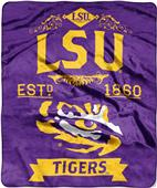 Northwest LSU Label Raschel Throw