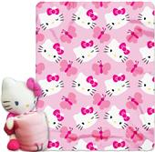 Northwest Kitty Butterfly Hugger/Fleece Throw Set