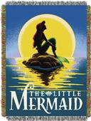 Northwest The Little Mermaid Woven Tapestry Throw