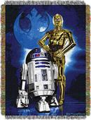 Northwest Droid Blues Woven Tapestry Throw