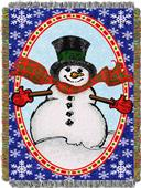 Northwest Happy Snowman Woven Tapestry Throw