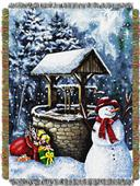 Northwest Snowman Holiday Woven Tapestry Throw