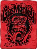 Northwest Red Monkey Logo Micro Raschel Throw