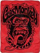 Northwest Red Monkey Logo Micro Raschel Throw