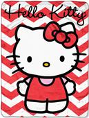 Northwest Hello Kitty Chevron Micro Raschel Throw