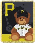 Northwest MLB Pirates Field Bear Baby Throw