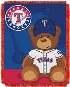Northwest MLB Rangers Field Bear Baby Throw
