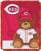 Northwest MLB Reds Field Bear Baby Throw