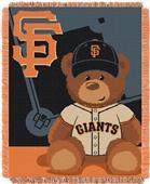 Northwest MLB Giants Field Bear Baby Throw