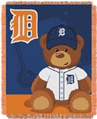 Northwest MLB Tigers Field Bear Baby Throw