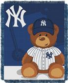 Northwest MLB Yankees Field Bear Baby Throw