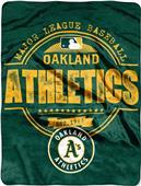 Northwest MLB Athletics Structure Raschel Throw