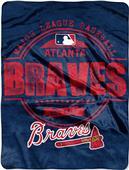 Northwest MLB Braves Structure Raschel Throw