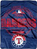 Northwest MLB Rangers Structure Raschel Throw