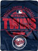 Northwest MLB Twins Structure Raschel Throw