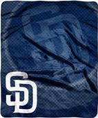 Northwest MLB Padres Retro Raschel Throw