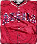 Northwest MLB Angels Jersey Raschel Throw