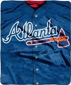 Northwest MLB Braves Jersey Raschel Throw