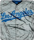 Northwest MLB Dodgers Jersey Raschel Throw