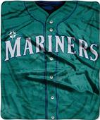 Northwest MLB Mariners Jersey Raschel Throw