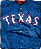 Northwest MLB Rangers Jersey Raschel Throw