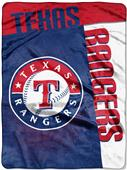 Northwest MLB Rangers Strike Raschel Throw