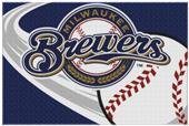 Northwest MLB Brewers Small Tufted Rug