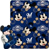 MLB Brewers Disney Mickey Hugger & Fleece Throw