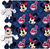 MLB Indians Disney Mickey Hugger & Fleece Throw