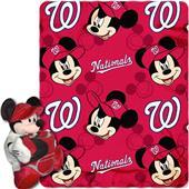 MLB Nationals Disney Mickey Hugger & Fleece Throw