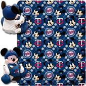 MLB Twins Disney Mickey Hugger & Fleece Throw