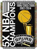 Northwest NBA Spurs Commemorative Taprestry Throw