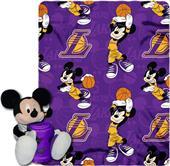 NBA Lakers Disney Mickey Hugger & Fleece Throw